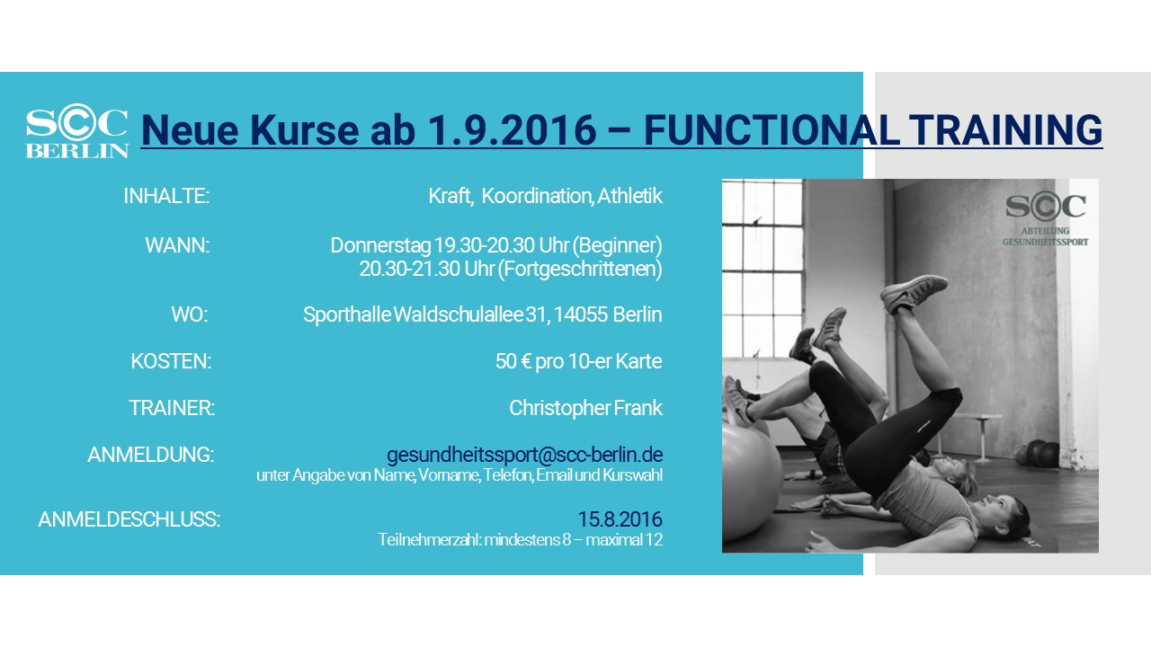 Flyer Functional Training 1